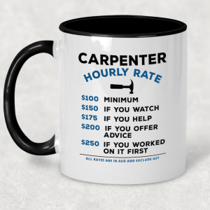 Coffee Mug - Hourly Rate - Carpenter