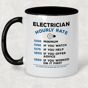 Coffee Mug - Hourly Rate - Electrician